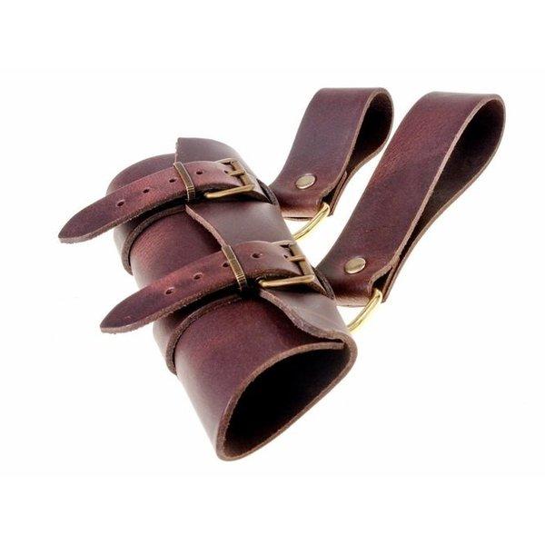 Luksuriøs læder sværd holder, brun