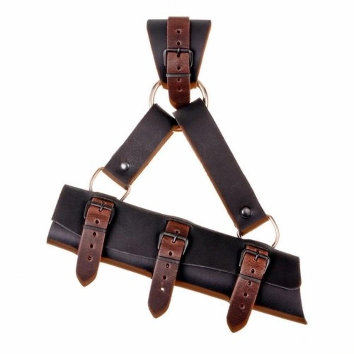 titular de la espada de lujo para espadas LARP, marrón