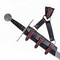titular de la espada de lujo para espadas LARP, marrón-negro