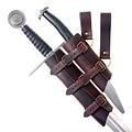 Luksuriøs sværd & dolk indehaver, sort