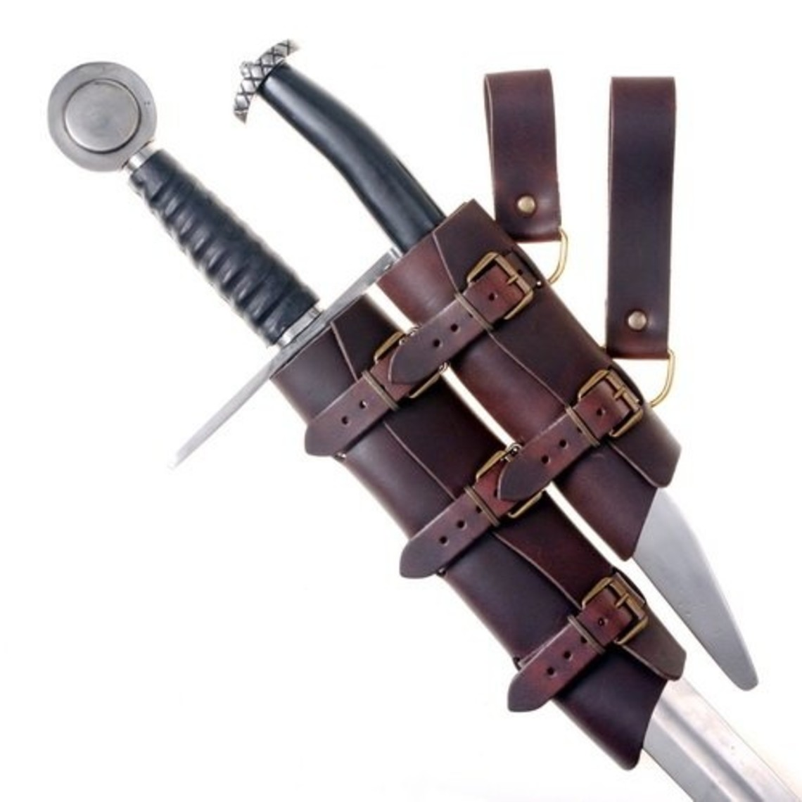 Lujosa espada y daga titular, negro-marrón