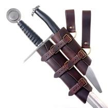 Luksuriøs sværd & dolk indehaver, brun-sort