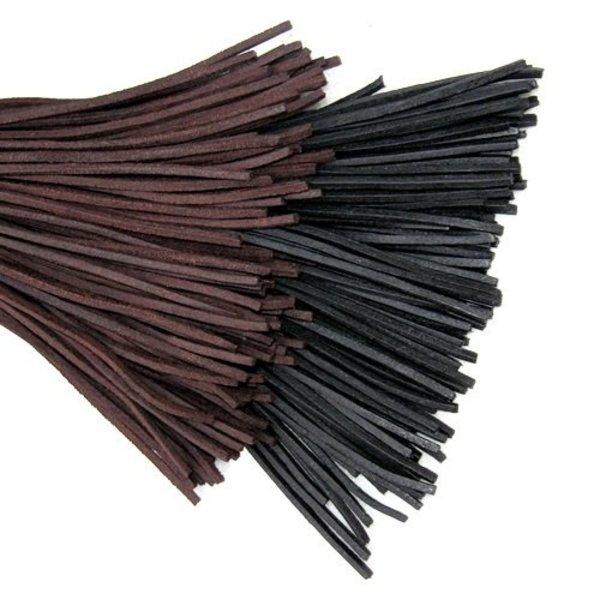 Leren veter, set van 10 bruin