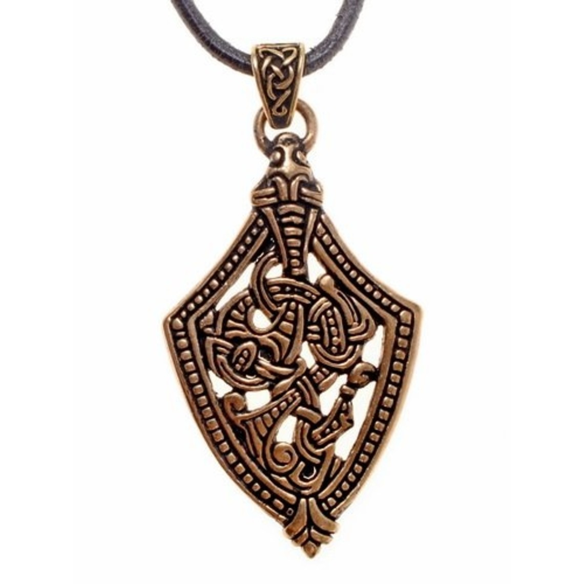 Borre style sword chape jewel, bronze