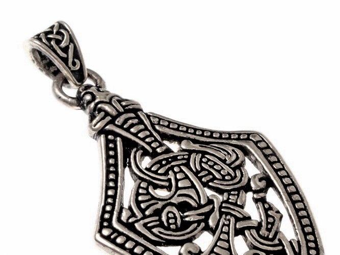 Borre style sword chape jewel, silvered