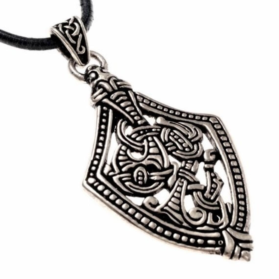 Borre Stil Schwert chape Juwel, versilbert