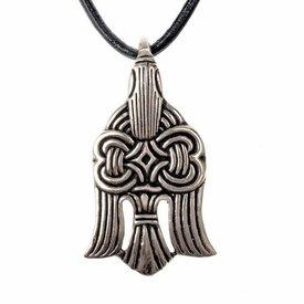 10. århundrede Viking raven vedhæng, forsølvet