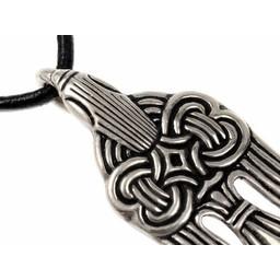 10. Jahrhundert Viking Rabe Anhänger, versilbert