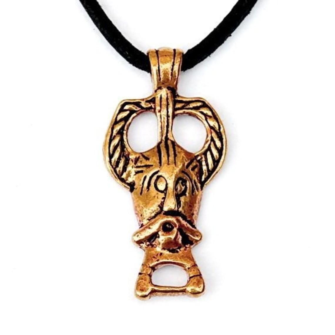Ribe Odin amuleto, bronce