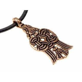 10: e århundradet Viking raven Jaroslav, brons