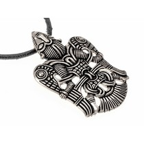 Viking jeweled winged man of Uppåkra, silvered