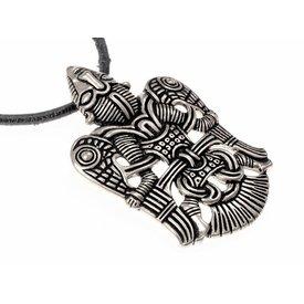 Viking jeweled bevingade man Uppåkra, försilvrade