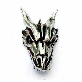 Drachen Juwel versilbert