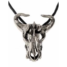 Bull Schädel Schmuckstück Messing versilbert
