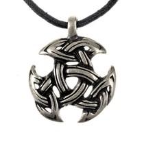 Celtic jewelry trinity motif, silvered