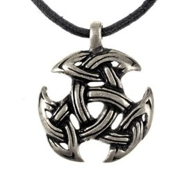 Celtic jewelry trinity motif, silvered