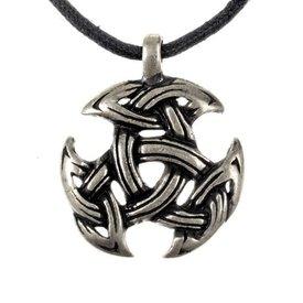 Keltisch sieraad drievoudigheidsmotief, verzilverd
