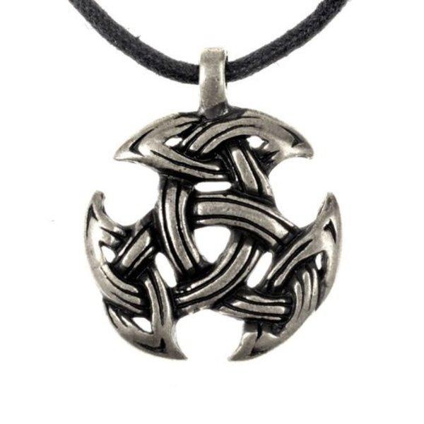 Celtic motyw biżuteria trójca, posrebrzane