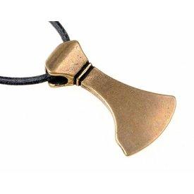 Viking beard jewel, brass