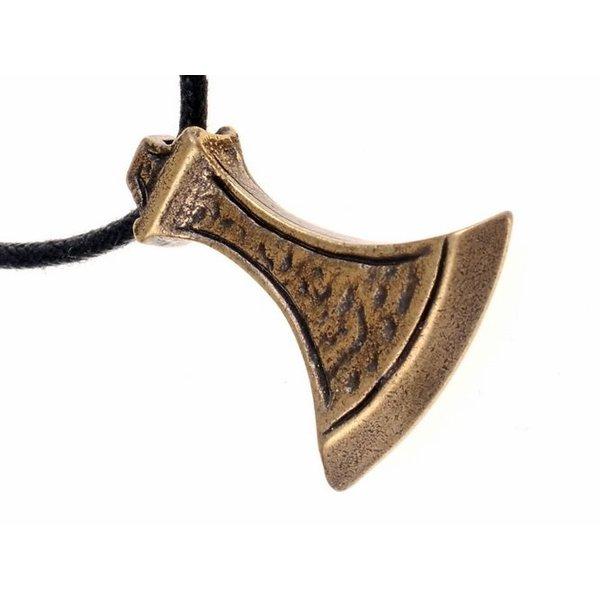 Vikingbijlsieraad, messing
