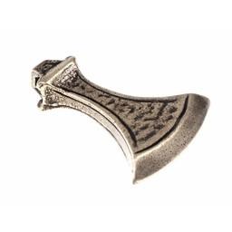 Viking axe jewel, silvered