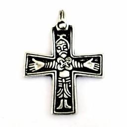 Viking Kreuz Sanda, versilbert