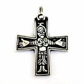 Viking cross Sanda, silvered