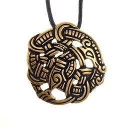 styl Viking Midgard wąż Urnes, mosiądz