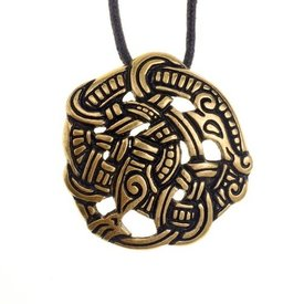 estilo vikingo Midgard serpiente Urnes, latón
