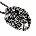 Viking Midgard Schlange Urnes Stil, versilbert