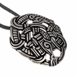 Viking Midgardslangsieraad Urnesstijl, verzilverd