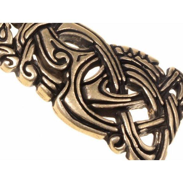 Viking juvel Midgård slange, messing