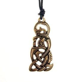 Jewel serpent Viking, argenté