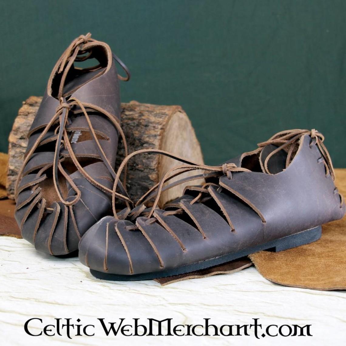 Leonardo Carbone Skórzane sandały epoki żelaza