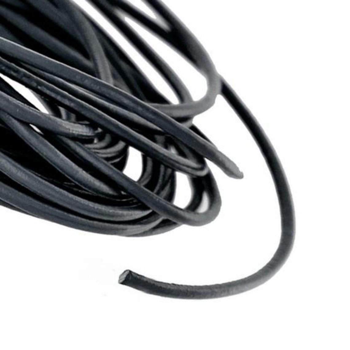 Lacet en cuir noir 2 mm x 1 m