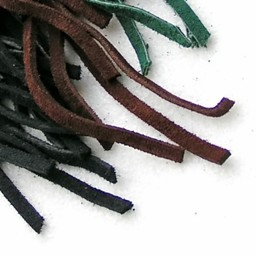 laccio di cuoio pelle scamosciata Black 5 mm x 1 m