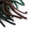 Suede leather lace red 5 mm x 1 m