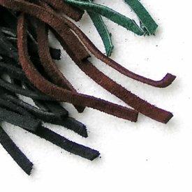 dentelle en cuir daim vert 5 mm x 1 m
