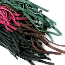 cordón de cuero de gamuza azul 5 mm x 1 m