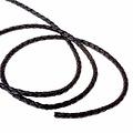 Geflochtenes Lederband schwarz 5 mm x 1 m