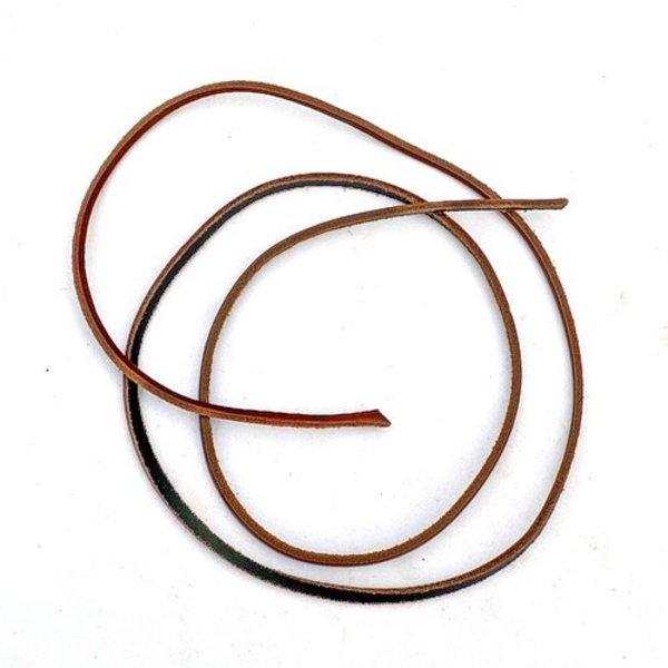 Læderrem sort 3,5 mm x 1 m
