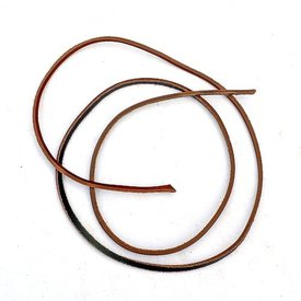 Leather strap brown 3,5 mm x 1 m 100 pieces
