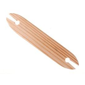Navette de tissage en bois clair