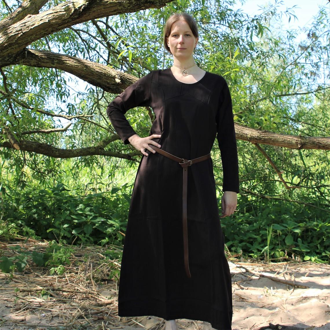 Leonardo Carbone Middeleeuwse  jurk Emma, donkerbruin