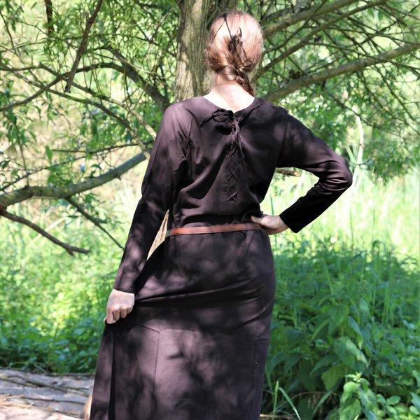 Leonardo Carbone Middelalderlig kjole Emma, mørkebrun