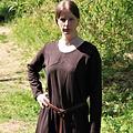 Leonardo Carbone Vestido medieval Emma, marrón oscuro