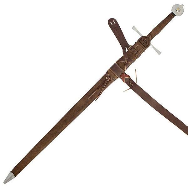 Red dragon Temple Church svärd, härdat