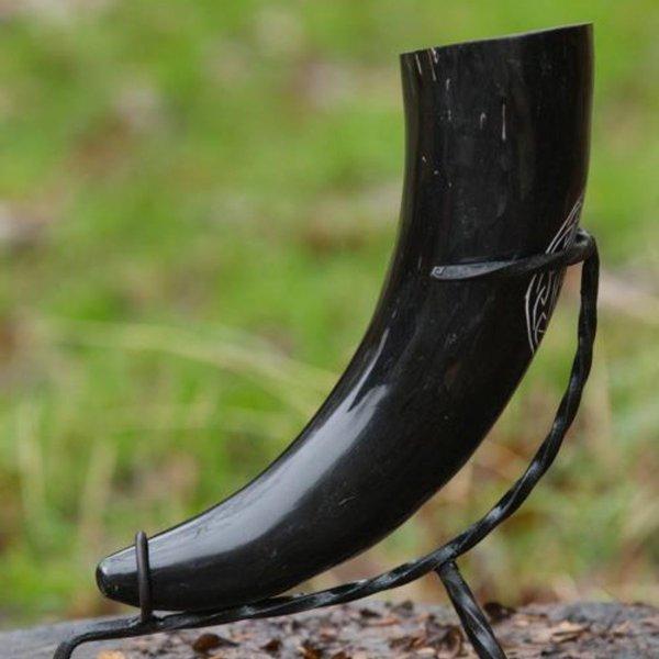 Epic Armoury Viking drinking horn Aegisjalmur, dark