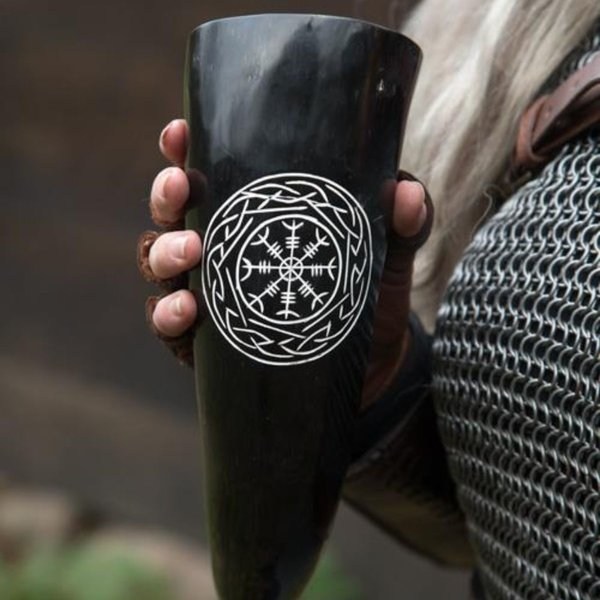 Epic Armoury Viking cuerno de bebida Aegisjalmur, luz