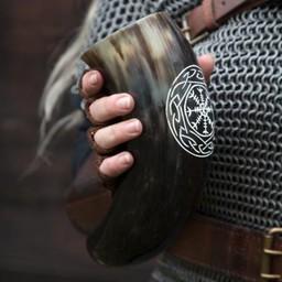 Viking drinkhoorn Aegisjalmur, licht